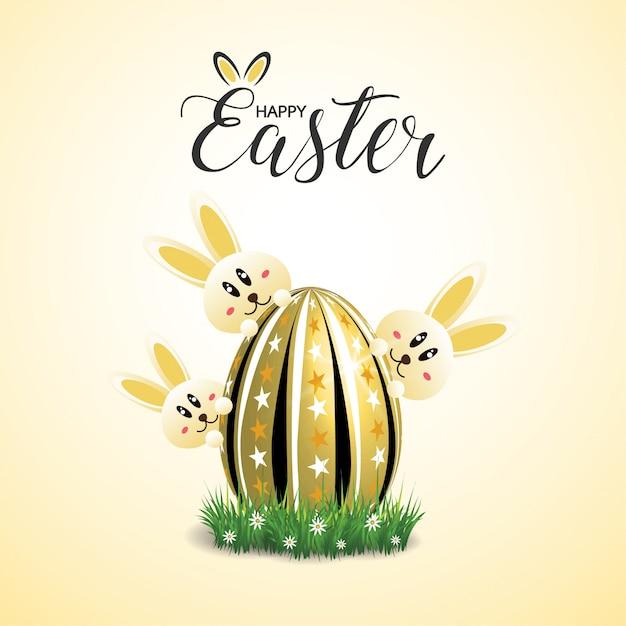 Happy Easter Greeting Card Premium Wektorów