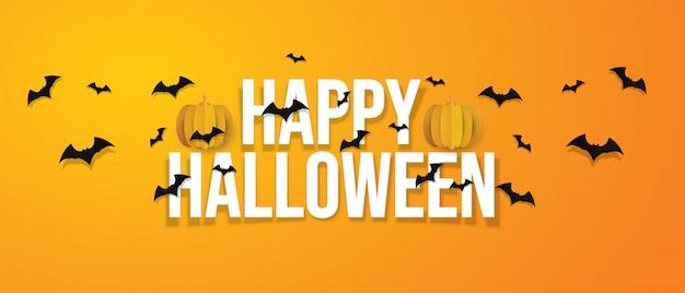 Happy halloween banner. Premium Wektorów