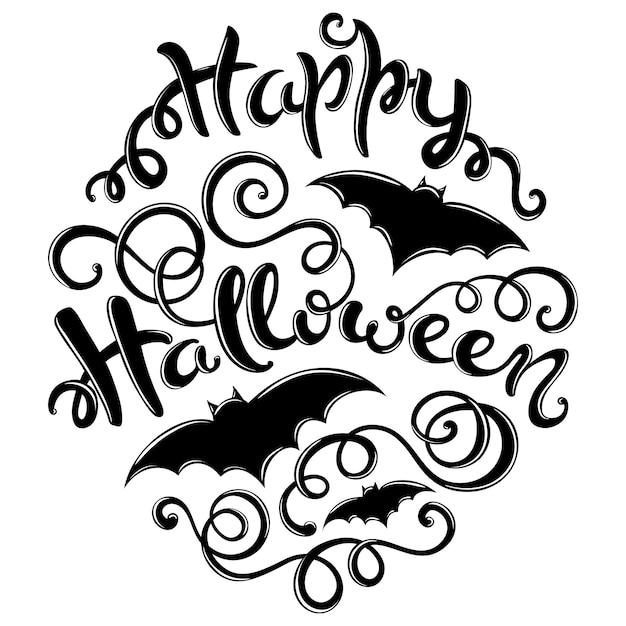 Happy halloween card Premium Wektorów