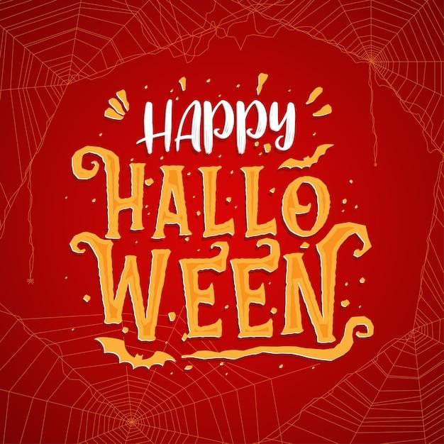 Happy Halloween Celebracja Napis Darmowych Wektorów