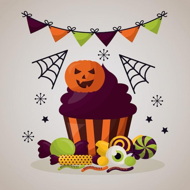Happy halloween celebration day Darmowych Wektorów