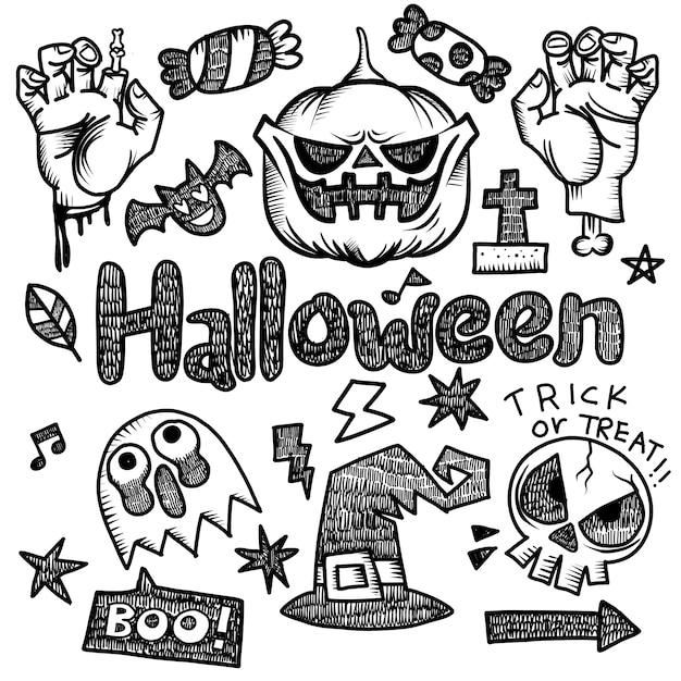 Happy halloween elementy projektu Premium Wektorów
