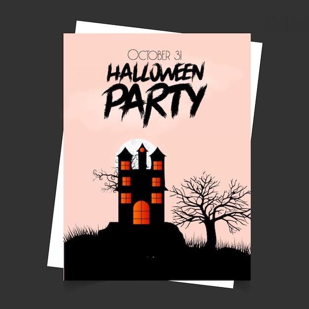 Happy halloween zaproszenie wzór z typografii wektor Darmowych Wektorów