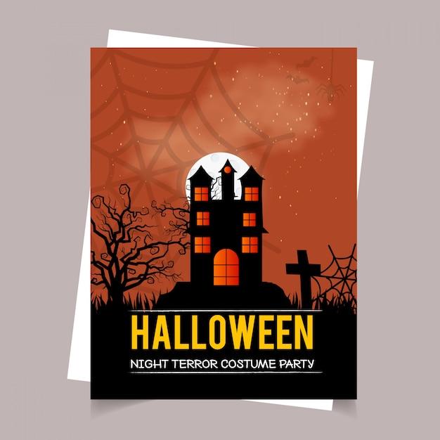 Happy Halloween Zaproszenie Wzór Z Typografii Wektor Wektor
