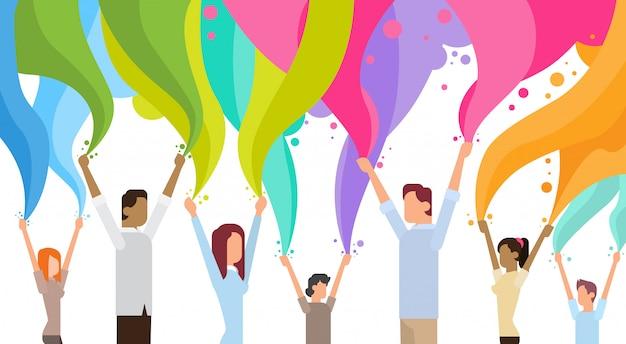 Happy Holi Religijne Indie Wakacje Tradycyjne Uroczystości Powitanie Koszyk Premium Wektorów