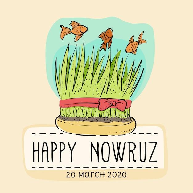 Happy Nowruz Darmowych Wektorów