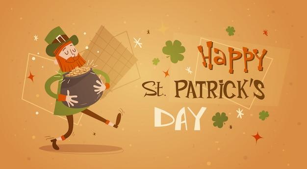 Happy patrick day festival piwo wakacje plakat fest Premium Wektorów