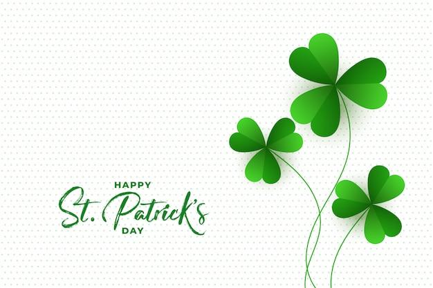 Happy St. Patricks Day Koniczyna Pozostawia Tło Darmowych Wektorów