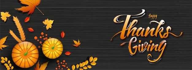 Happy thanksgiving background. Premium Wektorów