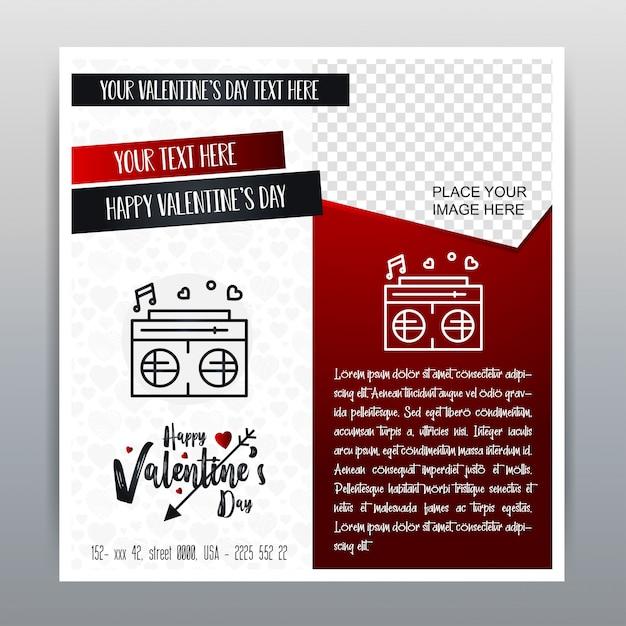 Happy valentine's day red icon banner pionowe czerwone tło. ilustracji wektorowych Darmowych Wektorów