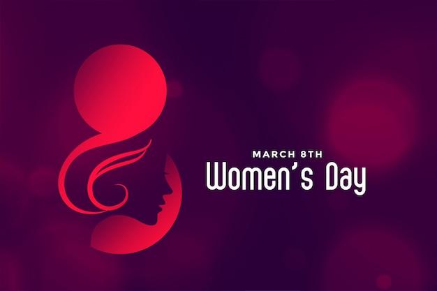 Hapy Międzynarodowy Dzień Kobiet Piękne Tło Darmowych Wektorów