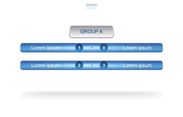Harmonogram Meczów Zespół Grupy Tło Dla Mistrzostw świata W Piłce Nożnej. Harmonogram Turniejów Piłki Nożnej. Premium Wektorów