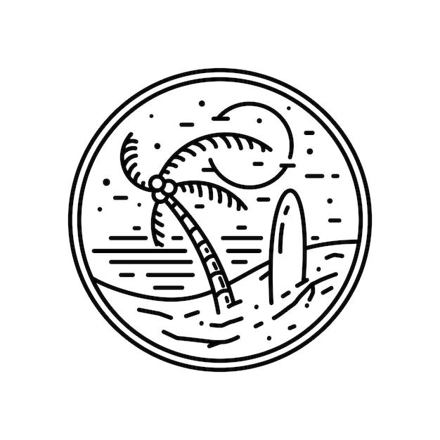 Hawajska Odznaka Vintage Monoline Premium Wektorów