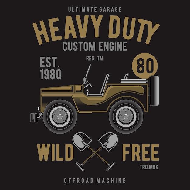 Heavy duty off road Premium Wektorów