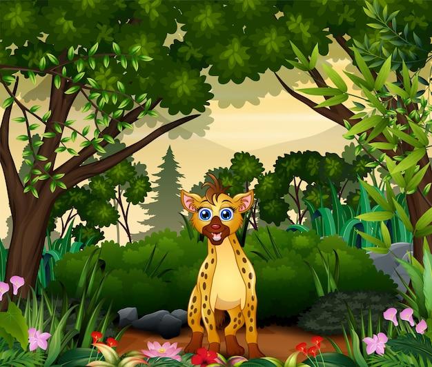 Hiena żyjąca W Dżungli Premium Wektorów