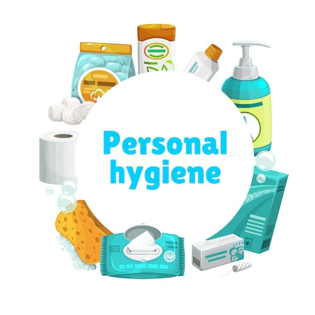 Higiena I Pielęgnacja Osobista, Baner Premium Wektorów