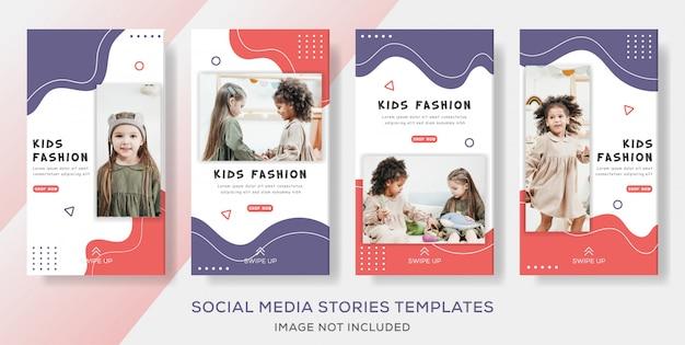 Historie Szablon Transparent Dla Dzieci Na Sprzedaż Mody Premium Wektorów