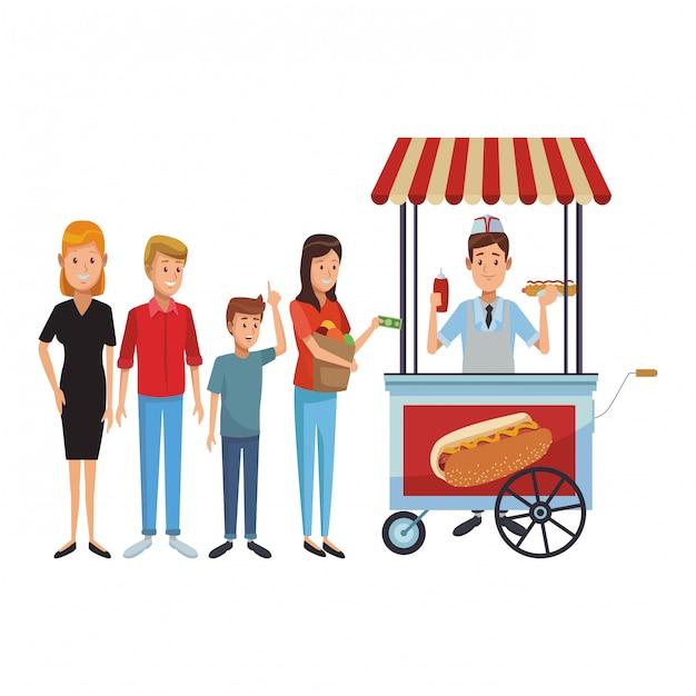Hot And Garden Booth Business Premium Wektorów