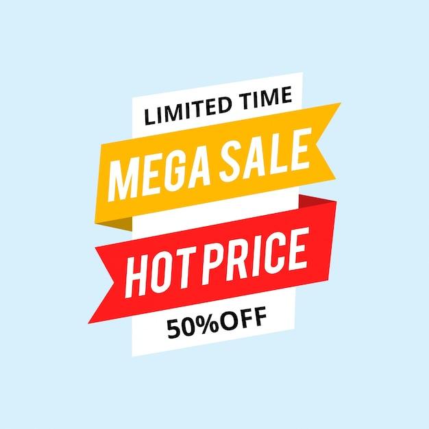 Hot Sale Tag Do 50% Zniżki. Premium Wektorów