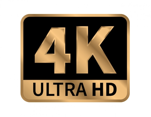 Ikona 4k ultra hd. Premium Wektorów