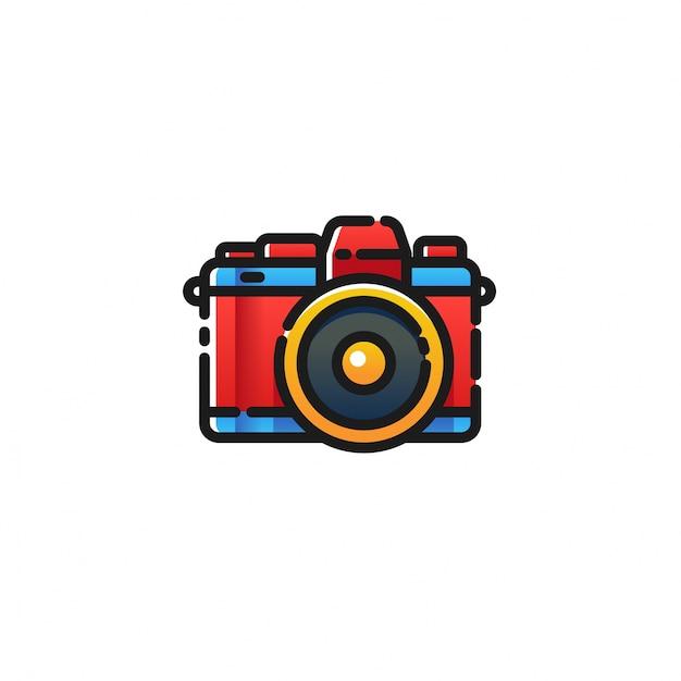 Ikona Aparatu Fotograficznego Premium Wektorów