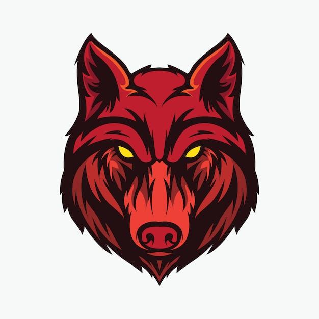 Ikona Głowy Wilka Premium Wektorów