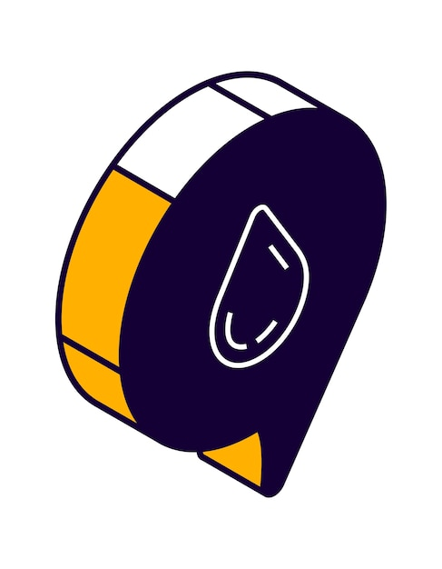 Ikona Izometryczna Dymka Z Kroplą, Czat Online, Wiadomość Miłosna Darmowych Wektorów