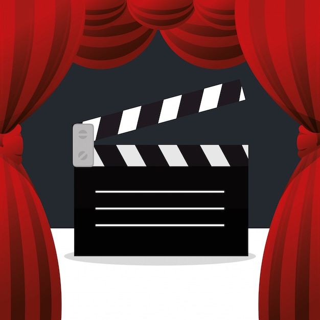 Ikona Kina Kino Klakier Rozrywki Darmowych Wektorów