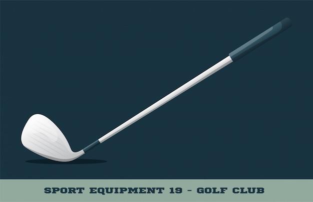 Ikona Klubu Golfowego Premium Wektorów