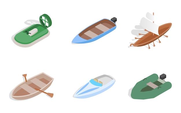 Ikona łodzi morskich na białym tle Premium Wektorów