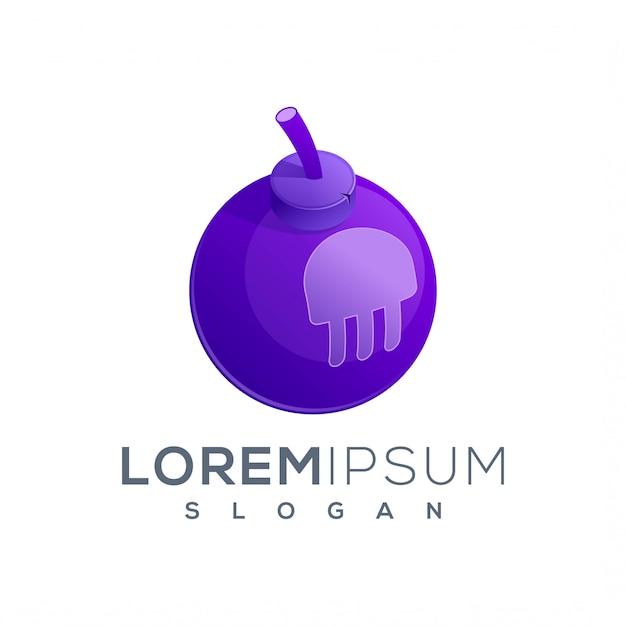 Ikona Logo Bomby żelowej Gotowe Do Użycia Premium Wektorów