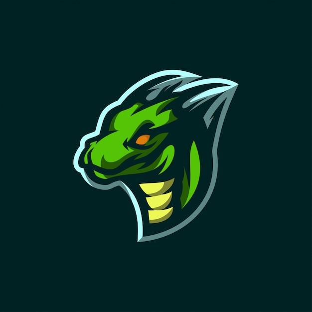 Ikona Logo Dragon Esports Premium Wektorów