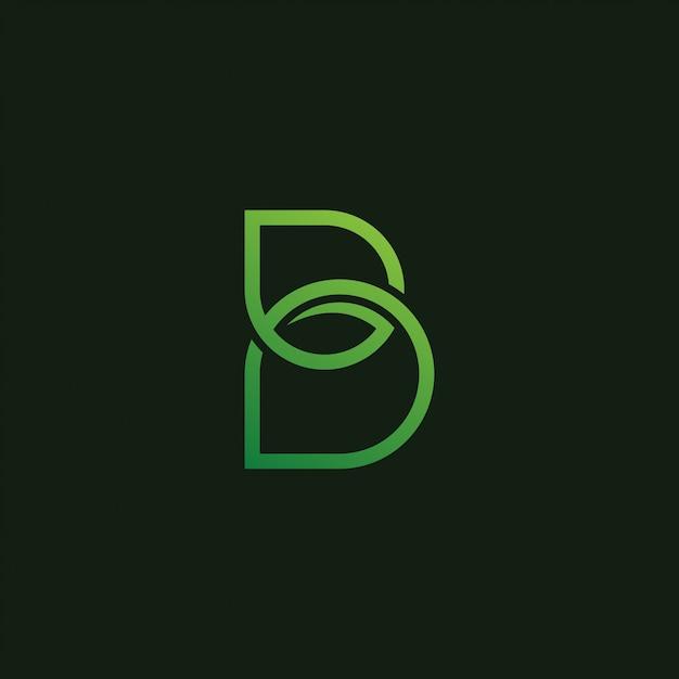 Ikona logo liść litera b. Premium Wektorów