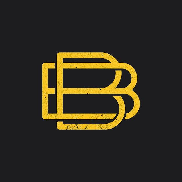 Ikona logo litery b. Premium Wektorów