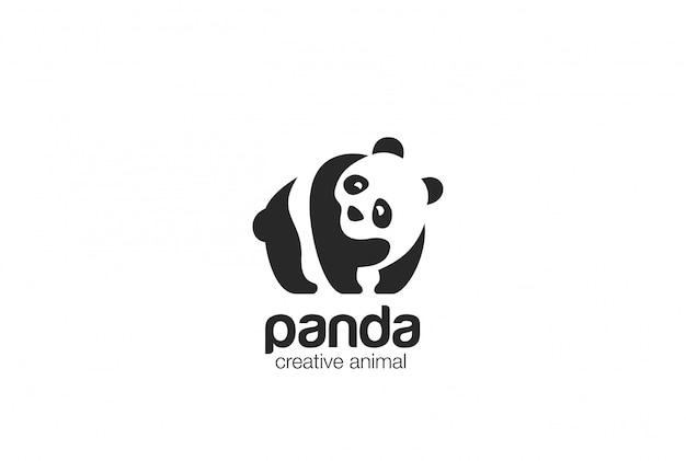 Ikona Logo Panda Logo Darmowych Wektorów