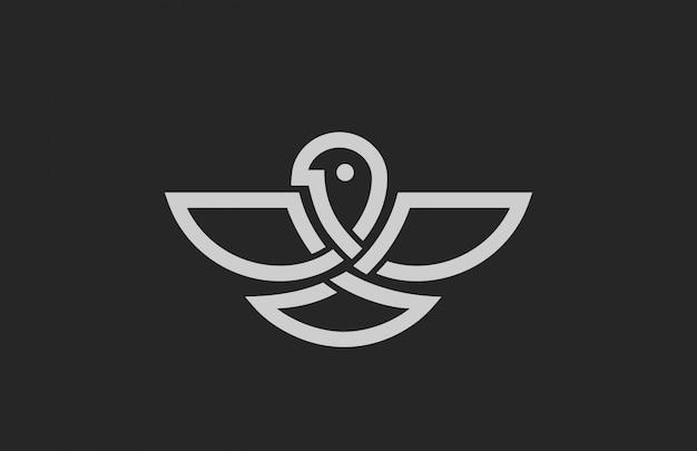 Ikona Logo Streszczenie Ptak. Darmowych Wektorów