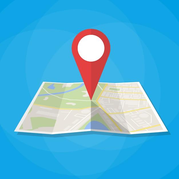 Ikona Mapy Nawigacyjnej Premium Wektorów