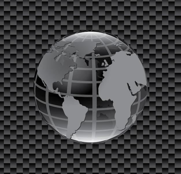 Ikona mapy planety Darmowych Wektorów