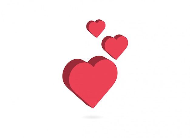 Ikona Miłości I Serca. Premium Wektorów