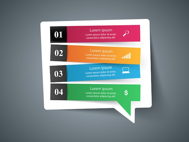 Ikona Mowy Bubl. Informacje O Oknie Dialogowym Premium Wektorów