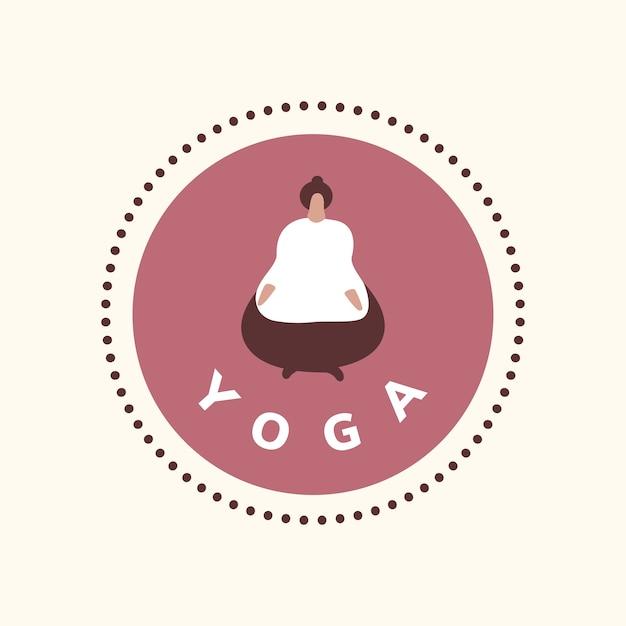 Ikona odnowy biologicznej jogi i medytacji Darmowych Wektorów