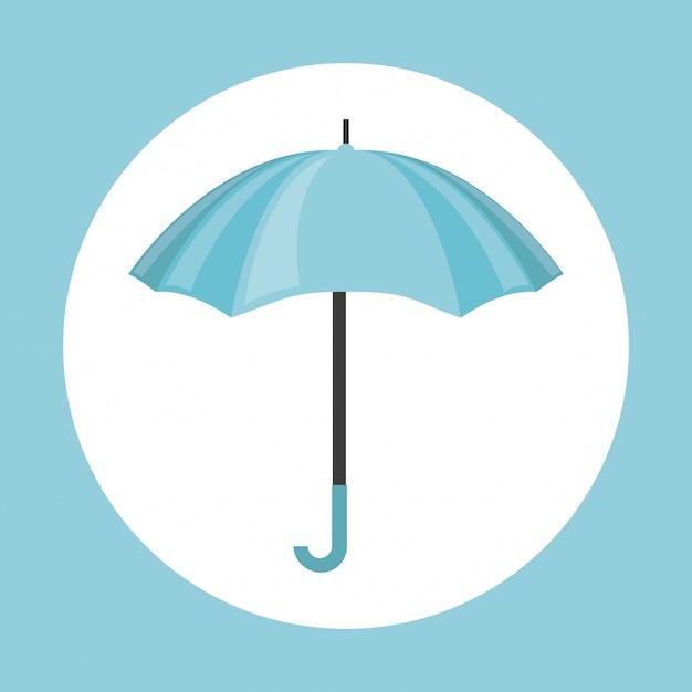 Ikona parasola Premium Wektorów