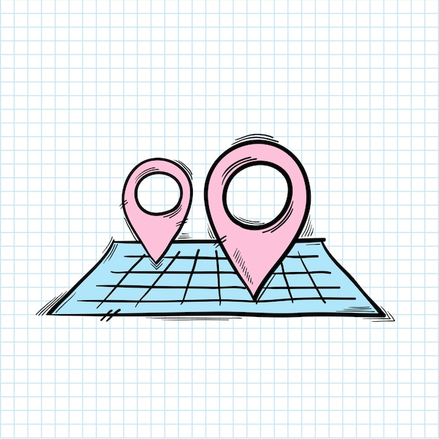 Ikona Pinezki Lokalizacji Darmowych Wektorów