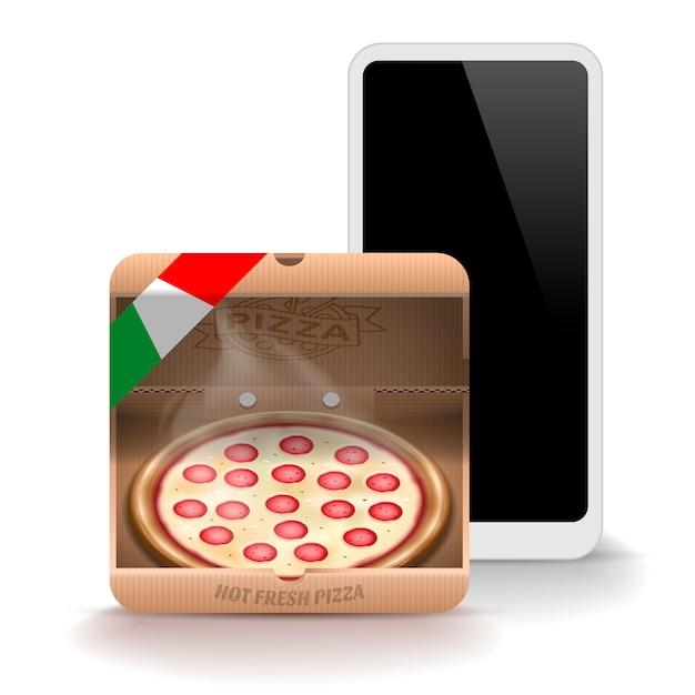 Ikona Pizzy Dla Aplikacji Mobilnych Premium Wektorów