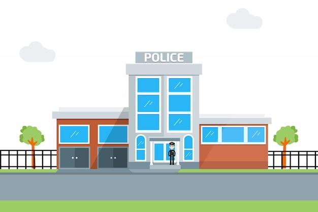 Ikona Posterunku Policji Premium Wektorów