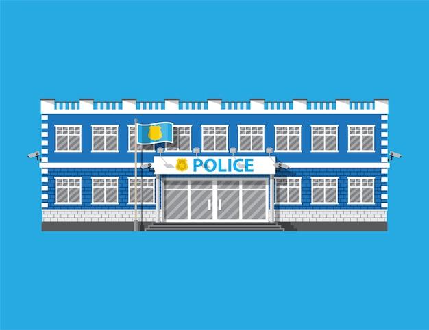 Ikona Posterunku Policji. Premium Wektorów