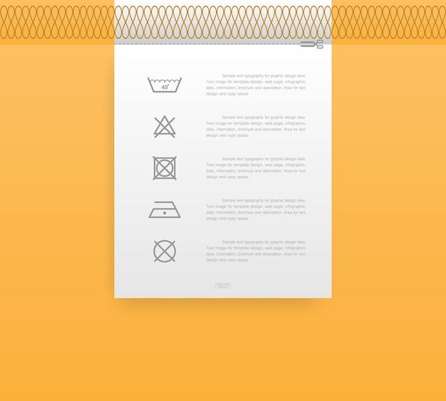 Ikona Pralni Na Ilustracji Tagu Premium Wektorów