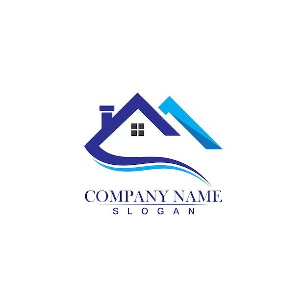 Ikona Projektu Logo Nieruchomości, Nieruchomości I Budownictwa Premium Wektorów