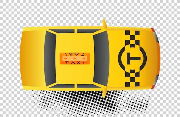 Ikona Samochodu Widok Z Góry Taksówką Premium Wektorów
