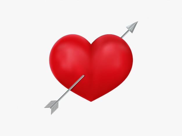 Ikona serca i strzałki Premium Wektorów